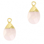 Natural stone charms Icy Pink-Gold