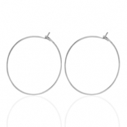 Stainless steel earrings 20mm Silver