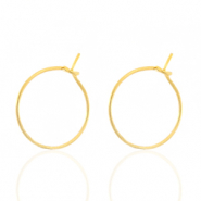 Stainless steel earrings 15mm Gold