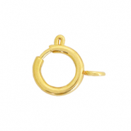 Stainless steel findings clasp 6x8mm Gold