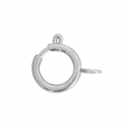 Stainless steel findings clasp 6x8mm Silver