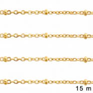 Stainless Steel findings belcher chain 2mm Gold