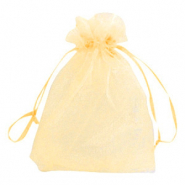 Jewellery organza bags 13x18cm Golden Yellow