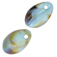 Resin pendants cowrie shell Icy Morn Blue