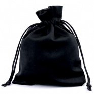 Jewellery Velvet Bag Black