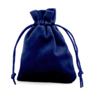 Jewellery Velvet Bag Dark Blue