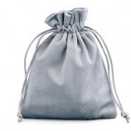Jewellery Velvet Bag Grey
