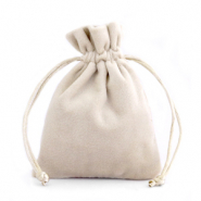 Jewellery Velvet Bag Beige