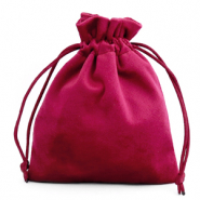 Jewellery Velvet Bag Port Red
