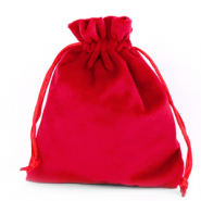 Jewellery Velvet Bag Red