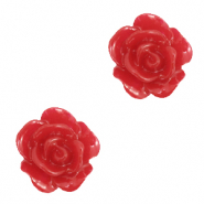 Rose beads 10mm Samba Red