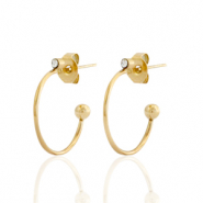 Stainless steel earrings/earpin creole Gold