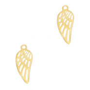 Stainless steel charms angel wing Gold