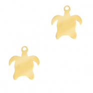 Stainless steel charms turtle Gold