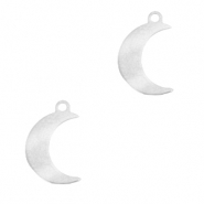 Stainless steel charms moon Silver