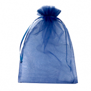 Jewellery Organza Bag 13x18cm Navy Blue