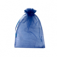 Jewellery Organza Bag 9x12cm Navy Blue