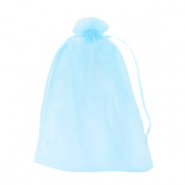Jewellery Organza Bag 13x18cm Light Turquoise Blue