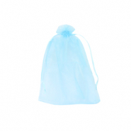 Jewellery Organza Bag 7x9cm Light Turquoise Blue
