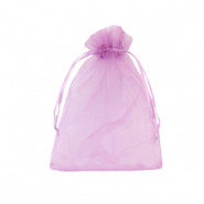 Jewellery Organza Bag 9x12cm Orchid Purple