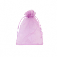 Jewellery Organza Bag 7x9cm Orchid Purple