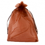 Jewellery Organza Bag 13x18cm Rust Red