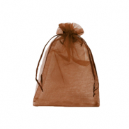 Jewellery Organza Bag 9x12cm Rust Red