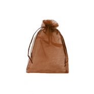 Jewellery Organza Bag 7x9cm Rust Red