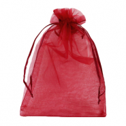 Jewellery Organza Bag 13x18cm Cherry Pink