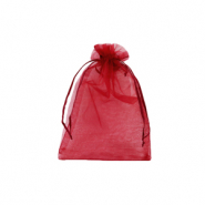 Jewellery Organza Bag 7x9cm Cherry Pink