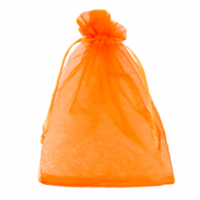 Jewellery Organza Bag 13x18cm Amberglow Orange
