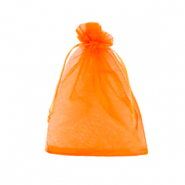 Jewellery Organza Bag 9x12cm Amberglow Orange