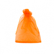 Jewellery Organza Bag 7x9cm Amberglow Orange