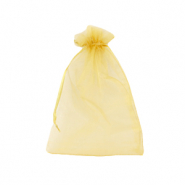 Jewellery Organza Bag 9x12cm Golden Yellow