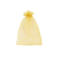 Jewellery Organza Bag 7x9cm Golden Yellow