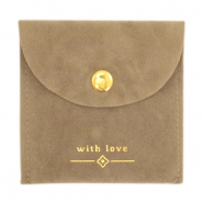 "Jewellery Bag ""with love"" Brown-Gold"
