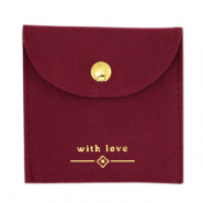 "Jewellery Bag ""with love"" Bordeaux Red-Gold"