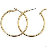 DQ creole earrings 30mm Gold plated