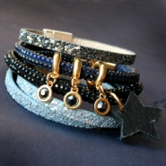 Inspirational Sets Bracelets with glitter; timeless and festive