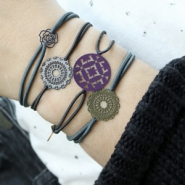 Inspirational Sets Bracelets and earrings in winter bohemian style