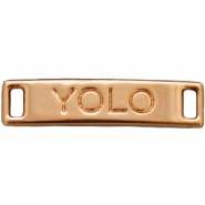 "Charm 2 loops ""YOLO"" Light rose gold"