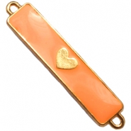 Charm two loops heart Gold - sun orange