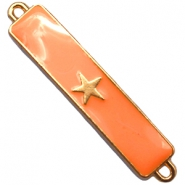 Charm two loops star Gold - sun orange