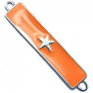 Charm two loops star Silver - sun orange
