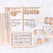 NEW BRAND NEW: statement earrings, rings & displays
