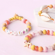 NEW Wooden beads in new trend colours