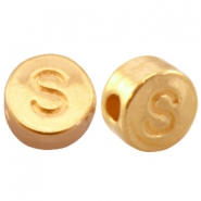DQ metal letterbead S Gold (nickel free)