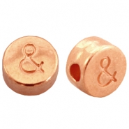 DQ metal letterbead & Rose gold (nickel free)