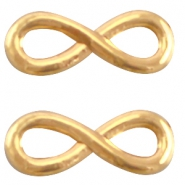 DQ metal infinity charm 15mm  Gold (nickel free)
