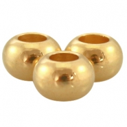 DQ metal ball 6x4mm Gold (nickel free)